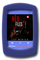 Audiobook cover of the lesbian romantic suspense The Red Files by lee Winter - Audiobook