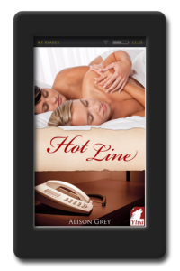 Cover of the lesbian erotica novel Hot Line by Alison Grey