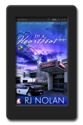 Cover of the lesbian medical romance In a Heartbeat by RJ Nolan