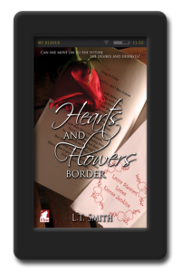 Cover of the lesbian romance Hearts and Flowers Border by LT Smith