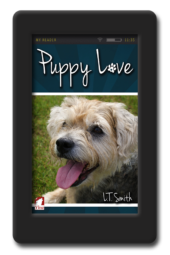 Cover of the lesbian romance Puppy Love by LT Smith