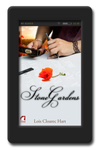 Cover of the opposites-attract lesbian romance Stone Gardens by Lois Cloarec Hart
