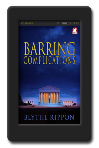 Cover of the lesbian romance Barring Complications by Blythe Rippon