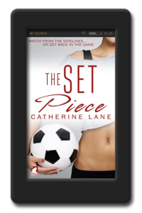 Cover of the lesbian sports romance The Set Piece by Catherine Lane