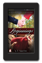 Cover of the lesbian romance Beginnings by LT Smith