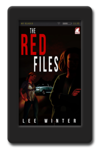 Cover of the lesbian romantic suspense The Red Files by Lee Winter