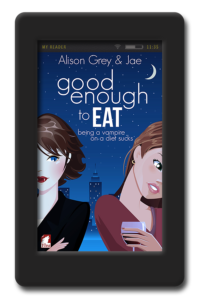 Cover of the lesbian vampire romance Good Enough to Eat by Jae