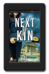 Cover of the lesbian age gap romance Next of Kin by Jae