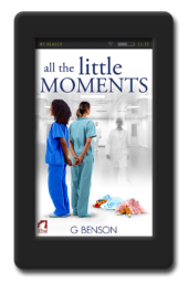 Cover of the lesbian romance All the Little Moments by G Benson