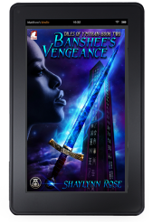Cover to Ylva Publishing's Banshee's Vengeance by Shaylynn Rose