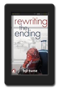 cover of the lesbian romance rewriting the ending by hp tune