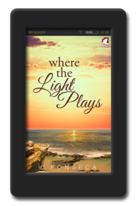Cover of the opposites-attract lesbian romance Where the Light Play by C. Fonseca