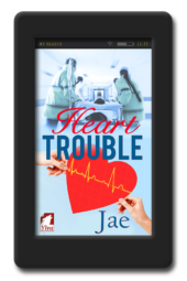 Cover of the lesbian medical romance Heart Trouble by Jae