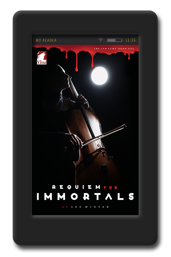 Cover of the enemies to lovers lesbian thriller Requiem for Immortals by Lee Winter