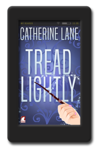 Cover of the lesbian fantasy novella Tread Lightly by Catherine Lane