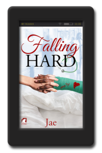 Cover of the lesbian medical romance Falling Hard by Jae