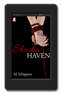 Cover of the lesbian erotic romance Shadow Haven by AJ Schippers