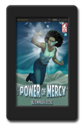 Cover of the lesbian superhero story The Power of Mercy by Fiona Zedde