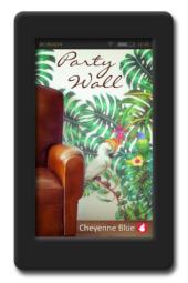 Cover of the enemies to lovers lesbian romance Party Walls by Cheyenne Blue