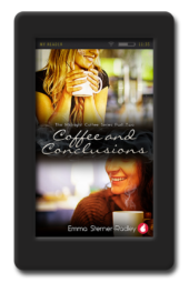Cover of the lesbian romance Coffee and Conclusion by Emma Sterner