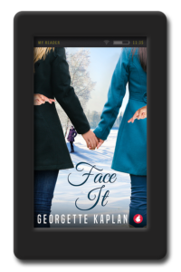 Cover of the lesbian romantic comedy Face It by Georgette Kaplan