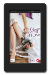 Cover of the lesbian fake-relationship romance Just for Show by Jae