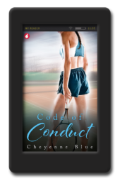 Cover of the lesbian sports romance Code of Conduct by Cheyenne Blue