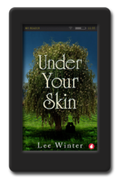 Cover of the twisty lesbian romance Under Your Skin by Lee Winter