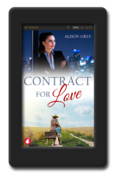 Cover of the lesbian fake-relationship romance Contract for Love by Alison Grey