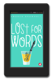 Cover of the bittersweet lesbian romantic comedy Lost for Words by Andrea Bramhall
