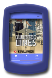 Image of the audiobook cover of Blurred Lines by lesbian fiction author KD Williamson