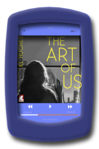 Image of the audiobook cover of the lesbian romance The Art of Us by KL Hughes