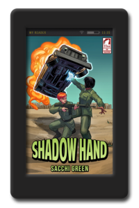 Cover of the lesbian superheroine adventure Shadow Hand by Sacchi Green