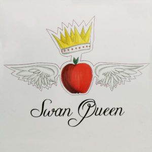 Swan Queen, apple with wings and a crown