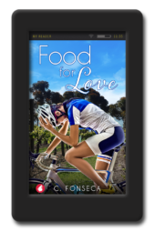 Cover for the lesbian romance Food for Love by C. Fonseca