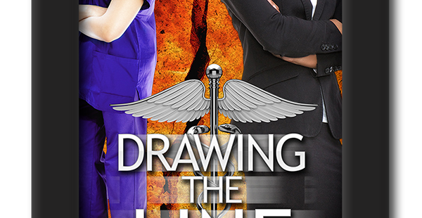 Cover of the second chance lesbian romance Drawing the Line by KD Williamson