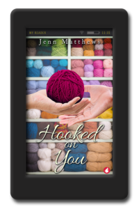 Cover of the lesbian romance Hooked on You by Jenn Matthews
