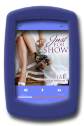 Audiobook cover of the fake-relationship romance Just for Show by Jae