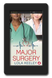 Cover of the enemies to lovers lesbian romance Major Surgery by Lola Keeley