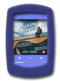 cover of the scifi romance Chasing Stars by Alex K. Thorne
