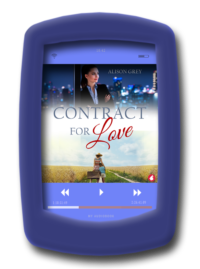 Audiobook cover of the fake-relationship romance Contract for Love by Alison Grey - Audiobook