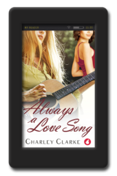 Cover of the lesbian second-chance romance Always a Love Song by Charley Clarke