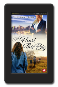 Cover of the opposites-attract lesbian romance A Heart This Big by Cheyenne Blue
