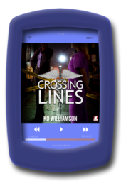 Cover of the lesbian romantic suspense Crossing Lines by KD Willaimson - Audiobook