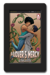 Cover of the lesbian superhero book A Lover's Mercy by Fiona Zedde