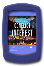 Audiobook cover of the lesbian romantic suspense Conflict of Interest (audiobook) by Jae