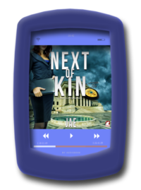 Audiobook cover of the lesbian age gap romance Next of Kin (audiobook) by Jae