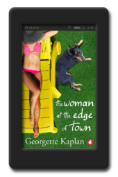 Cover of the lesbian romance The Woman at the Edge of Town by Georgette Kaplan