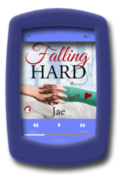 Audiobook cover of the lesbian medical romance Falling Hard by Jae
