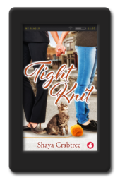 Cover of the charming second-chance lesbian romance Tight Knit by Shaya Crabtree